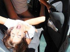 Hot pick up girl Carla driving men crazy scene 1