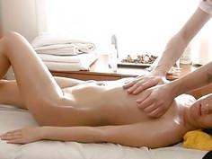 Instead of gentle massage playgirl gets wild sex