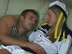 Honey receives both of her fuck holes screwed