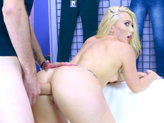 AJ Applegate took giant penis in her delicious ass