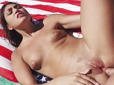 Shave muff gf anal pounded by the pool