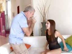 Old stepdad almost heart attacked when ride his big cock by kinky booty teen