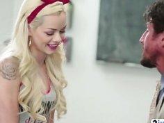 Hard classroom fuck with gorgeous schoolgirl Elsa Jean