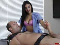 Horny Guys Cock Becomes Hard & Thick During Massag