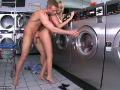 Breanne Benson getting her pussy licked and fucked in the laundry room