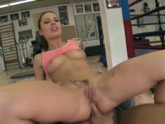 Assfucked Beauty Sucking Dick After Practice