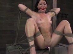 Ballgagged Frogtied Petite Babe Punished
