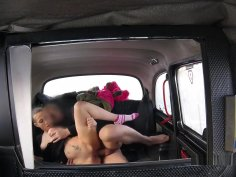 Natural Busty Brunette Fucks In Fake Taxi