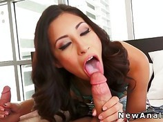 Babe gets first double penetration