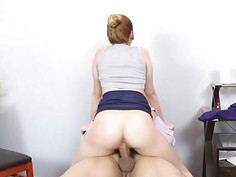 Horny chick Katalina Mills spreads her legs