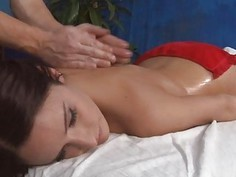 Stroking beautys pussy turns her into a floozy