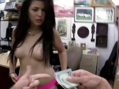 Big ass Latina bitch grinds and rides cock for some cash