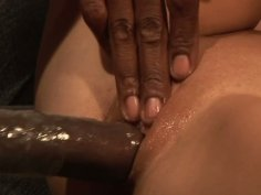 Huge black cock drills Kiera King's tight pussy