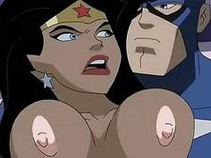 Superhero Porn Wonder Woman vs Captain America