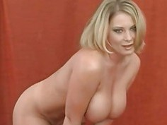 Large tits playgirl charms a knob with riding