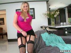 Busty lonely wanker Abbey Brooks dreams of tickling her wet pussy