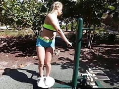 Amazing blonde chick Natalia Starr enjoying Jmacs big dick