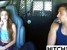 Cute Teen Hitchhiker Alex Mae Regrets Her Decision To Enter This Guy's Van