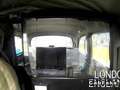 Big ass British beauty bangs in cab