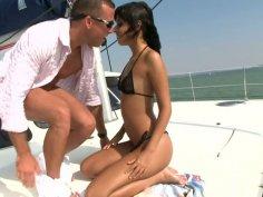 Brigitte Fox getting fucked hard on the yacht
