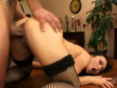 Marco Banderas drilling gorgeous slut in stockings