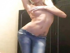 Hot Blonde Teen Sexy Dance