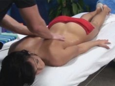 Bailey seduced and fucked by her massage therapist on hidden camera