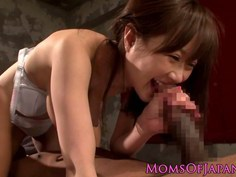 Japanese milf gets black cock pussyfucked