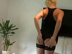 Blonde Milf Fucked in her Pussy