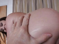 Bubble ass GF first time anal sex with horny man on cam