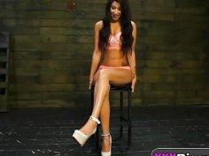 Teen Esmi Lee Gets Roughly Banged While Tied