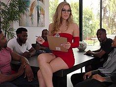 White Milf gets gangbanged by blacks