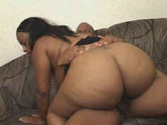 Curvaceous black candy rides on horny dick in cowgirl pose