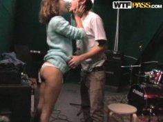 Couple sex fucking. She spreads her legs for fingering