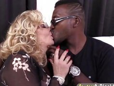 Cougar Karen Summer gets her pussy fucked by a big black cock