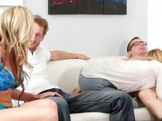 Game night turns into fuck night for Alina West and fucked fam