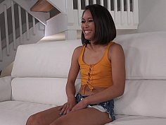 Tiny Aria Skye in her first interracial