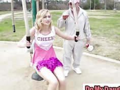 Step daughters Alexa and Molly banged by step dads