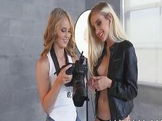 Teen Naomi Woods seduced by lesbian