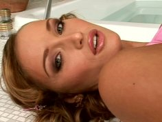 Graceful curly haired cutie Kathia Nobili eager to masturbate