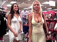 Molly & Misty shopping and teasing