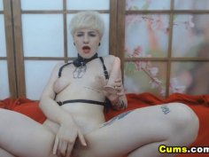 Blonde Russian Babe Enjoys Her Dildo