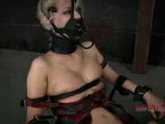 Unbelievable BDSM session of wicked blonde brick house Cherry Torn