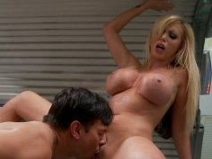 Blond cinderella gets fucked in solarium