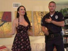 Cheating house wife Alektra Blue steamy throat fucking scene