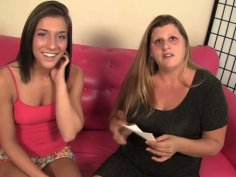 Neat brunette teen Mischa Brooks fondles her juicy cunt on the couch