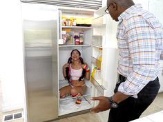 Sean found a pleasant surprise, Maya Bijou, in his fridge