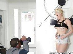 Blonde teen model Jenna fucked hard by BBC photographer