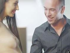 Kitty cries out in pleasure as Johnny's cock pushes deep